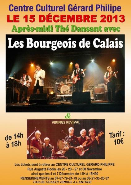 Les Bourgeois de Calais (Concert Rock Sixties au Théâtre du Gymnase Paris) novembre 2013. CLIP VIDÉO
