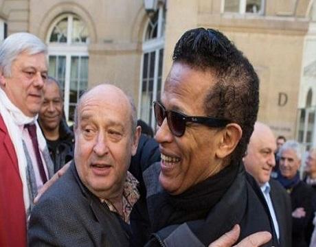Michel Jonasz et Vigon en interview lors de l'inauguration de la plaque du Golf Drouot en hommage à Henri Leproux.