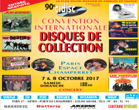 Convention Internationale des Disques de Collection les 7 & 8 octobre 2017 à Paris-Champerret, organisé par Juke Box Magazine.